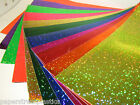 Glittering Sign Vinyl Sheets, Choose Your Size & Color, Holographic Sequins