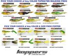Koppers Live Target Frog Topwater Popper Walking FGP FGW Pick Any Color Size