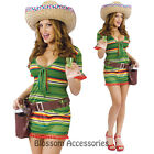 C925FW Sexy Shooter Tequila Sombrero Mexican Women Halloween Adult Costume + Hat