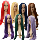 Women's Girls Style 80cm Fashion Long Straight Cosplay Anime Hair Full Wig Color