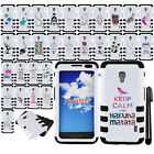 For LG Optimus F6 D500 MS500 IMPACT HYBRID Rubber HARD Case Phone Cover + Pen