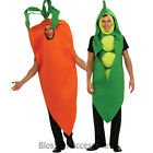 CL44 Adult Carrot Pea Pod Funny Halloween Womens or Mens Fancy Dress Costume