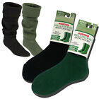 MENS WINTER WELLY WELLINGTON BOOT THERMAL SOFT CUSHION WALKING SOCKS BLACK GREEN