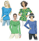SEWING PATTERN Butterick B5562 Misses Stretch Knit POOF SLEEVE PULLOVER TOPS