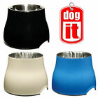 HAGEN ELEVATED 2IN1 TALL DOG PUPPY FOOD WATER DISH BOWL COLOURS STAINLESS 900ML
