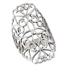 Lavish Sterling Silver Filigree Design Ring - Sizes 6-10