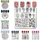 BORN PRETTY Nail Stamping Plates Round Rectangle Nail Art Image Template Decor