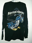 NEW with tags size L AMERICAN CHOPPER T SHIRT black  MIKEYS BIKE long sleeved