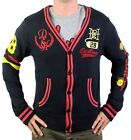 BRAND NEW ED HARDY CHRISTIAN AUDIGIER MEN'S BUTTON UP SWEATER STUDDED CARDIGAN