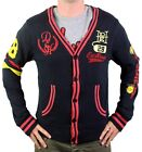 NEW ED HARDY CHRISTIAN AUDIGIER MEN'S BUTTON UP SWEATER STUDDED CARDIGAN SIZE M