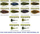 All Terrain Tackle Jigs - Football - Rock or Skirted Brushguard - Any Color Size