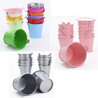 12pcs Mini Metal Bucket Candy Favours Box Pail Wedding Party Gifts- Color Choose