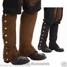 S23 Steampunk Mens Spats Boots Cover Adult Costume Accessory