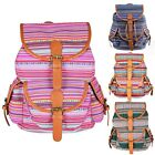 Canvas Back Pack Womens Backpack School Bags Work Casual Laptop Bags 4 Style B20