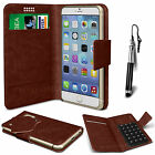 Brown Leather Suction Wallet Flip Mobile Phone Case For Various Lenovo Sets