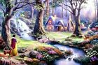 Thomas Kinkade Snow White Discovers The Cottage 12x16 Framed Classic Disney