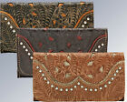 New American West® Annie's Secret Collection, Distressed Leather Tri-Fold Wallet