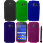 For Samsung Galaxy Ace Style S765C TPU SILICONE Rubber Case Phone Cover + Pen