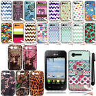 For LG Optimus Zone 2 Fuel VS415PP L34C Design TPU SILICONE Case Cover + Pen
