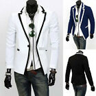 Mens Casual TOP Design Sexy Slim FIT Blazers Coats Suit Jackets-UK HF