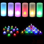 1/3/12/25 Pcs Flameless Color Changing LED Candle Tealight Battery Wedding Party