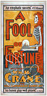 Photo Print Vintage Poster: Stage Theatre Flyer Fool Of Fortune Wmh Crane 01