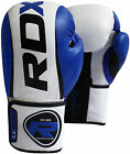 RDX Rex Leather Boxing Gloves Fight Punch Bag Muay Thai MMA Grappling Pad Kick C