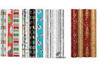5m/2m Roll Christmas Wrapping Paper Gift Wrap Traditional Foil/Xmas Gift Wrap