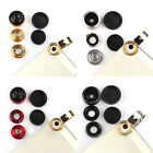 1PCS Universal Clip 3in1 Fish eye Macro Wide Angle Lens for iPhone 5S 5C 4S  GFY