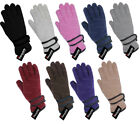 Ladies Thermal Thinsulate Lined Fleece Gloves  Womens Adults Winter Warm