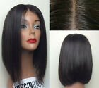 "16"" 100% remy human hair Straight Wave full lace wigs /lace front wigs Silk Top"
