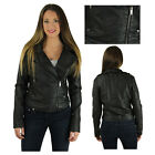 Dollhouse Junior's Women's Faux Leather Black Motorcycle Jacket Coat