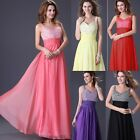 2014 Clearance   Stunning Sequins Chiffon Formal Bridesmaid Evening Bridal Dress