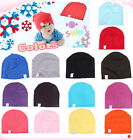 New Cute Infant kid boys girls NewBorn Cotton Beanie Hat cozy Toddler 9 colors