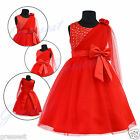 r6092 UkG G16 Red Halloween Party X'mas Flower Girls Dress 1,2,3,4,5,6,7,8,9y