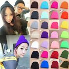 New Unisex Mens Womens Warm Winter Cuff Plain Knit Ski Beanie Skull Cap Hat