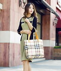 New Fashion Two-piece Design Plaid Pattern Women Shoulder Bag Handbag Purse Tote