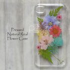 FCZ Pressed Real Dry Flower Floral Bling Hard Skin Case Cover For Samsung iPhone