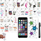 For Apple iPhone 6 6S 4.7 inch Cute Design TPU Silicone Case Phone Cover + Pen