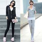 Hot Fashion Women's Casual Suit Tracksuit Hoodies Sports Coat Jacket With Pants