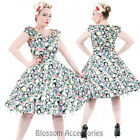 RKH68 Hearts & Roses Rockabilly 50s Mix Floral Summer Cocktail Swing Pinup Dress
