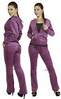 Purple Velour Hoodie Track Suit Sport Celeb Outfit Woman Jacket Pants TRACKSUIT