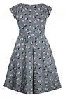 New Evans Skater Midi Dress Black White Check Print Sizes 16 - 28