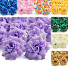 50pcs Silk Roses Artificial Bridal Clips Wedding Decoration Fake Flower Heads