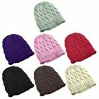 Lady Women Knit Winter Warm Crochet Hat Braided Ski Beanie Cap