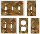 ITALIAN TUSCAN TILE COLORS #5 IMAGE LIGHT SWITCH COVER PLATE OT OUTLET U PICK