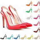 Womens Patent High Heels Ankle Strap Sandals Pumps Court Shoes Sandals Size 2- 9