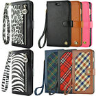 Luxury Leather Card Wallet Flip Case Cover for Apple iPhone 6 6S 7 Plus