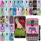 For LG Optimus G2 D800 D801 D802 LS980 Rubberized HARD Case Phone Cover + Pen