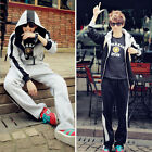 Men's Winter new hooded track longsleeve Adjustable Sports suit Sets UN0017